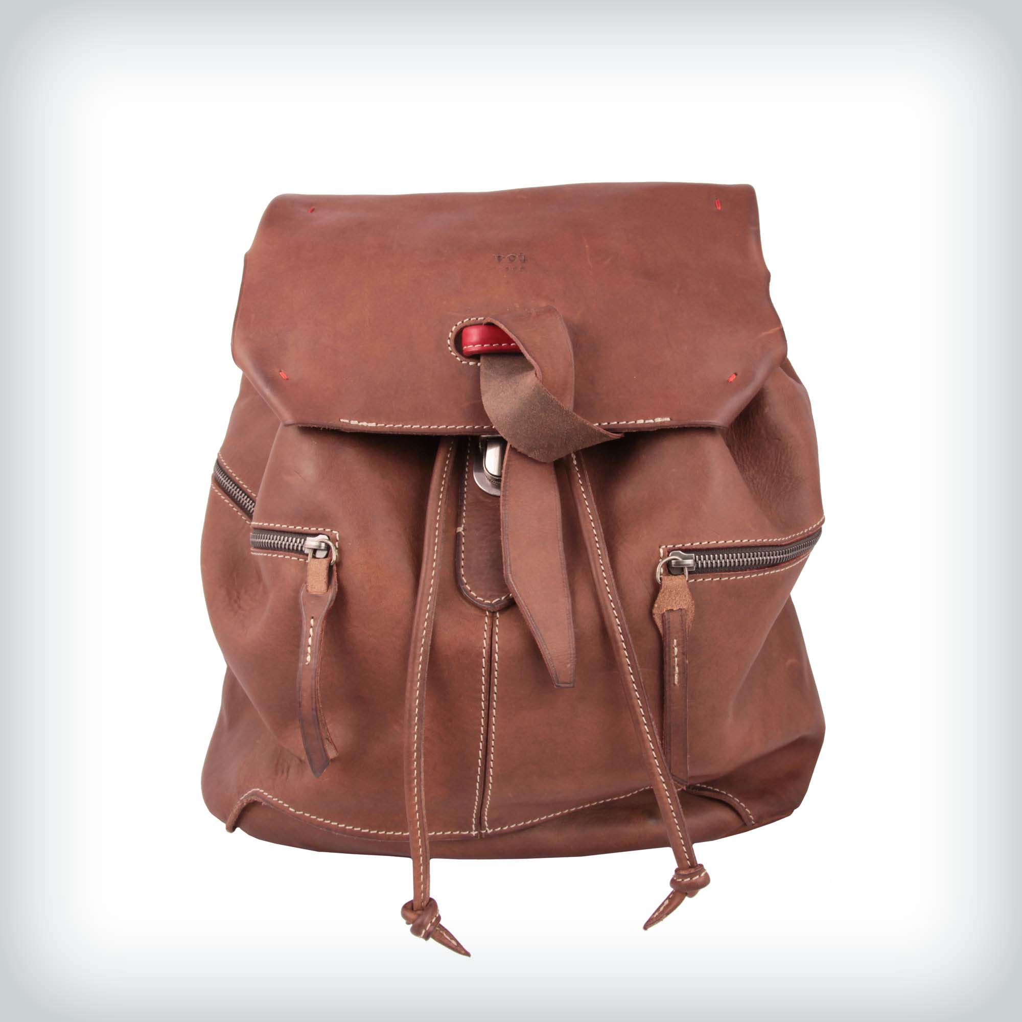 Vintage Leather Backpack Peruzzi