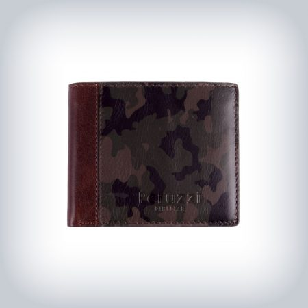 Camouflage Leather Wallet Peruzzi