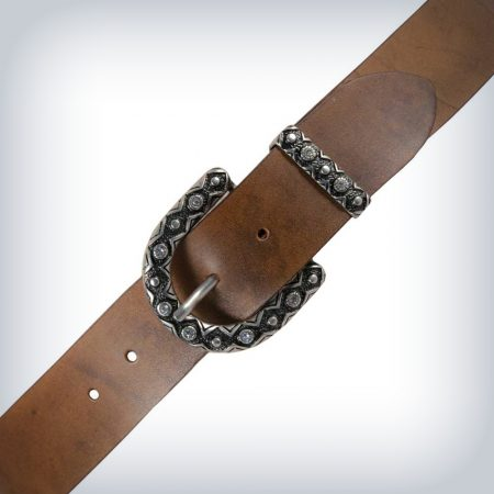 "Woman Leather Belt ""Vintage Crystal"" Peruzzi"