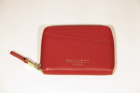 Ladies' Small Leather Wallet With Zip Around Closure