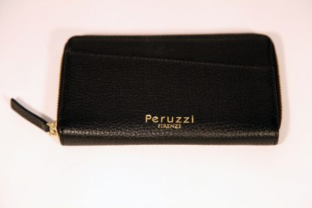 Ladies' Medium Size Leather Wallet With Zip Around Closure